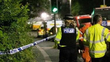 The crime scene in Plymouth, England.