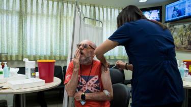 Transplant recipient vaccinated