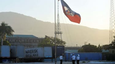 Haitian flag.