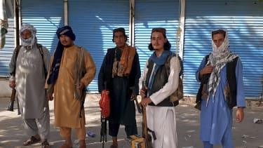 Taliban fighters in Kunduz.