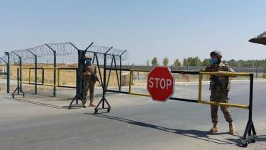 A checkpoint at the Uzbekistan-Afghanistan border.