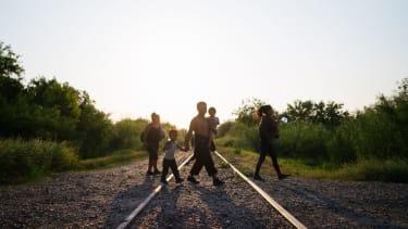 Migrants at border.