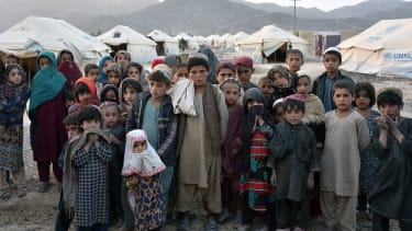 Refugee children in Afghanistan.