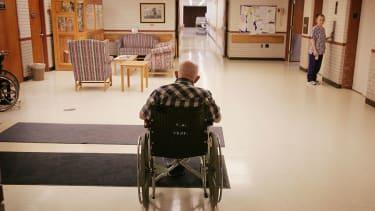 Veteran in VA facility.