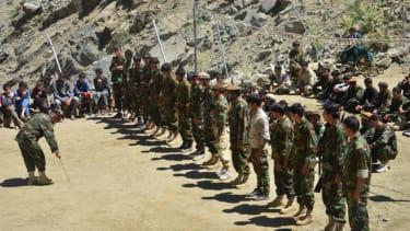 Afghan resistance fighters.