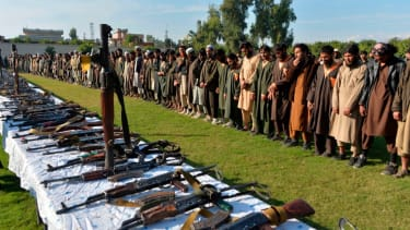 ISIS fighters surrender in Jalalabad.