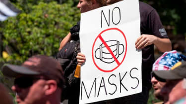 An anti-mask protester.