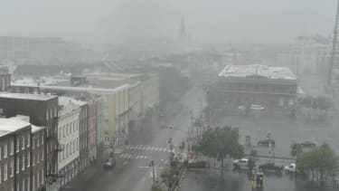 New Orleans during Hurricane Ida.