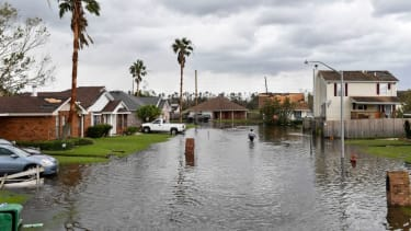 Flood waters in Louisiana after Hurricane Ida.