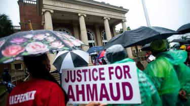 Supporters of Ahmaud Arbery.