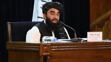 Taliban spokesman Zabihullah Mujahid.