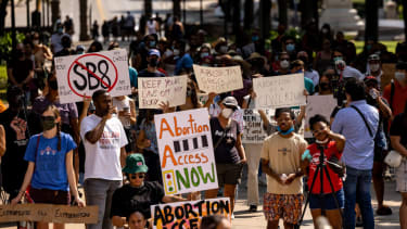 Abortion rights protest in Austin