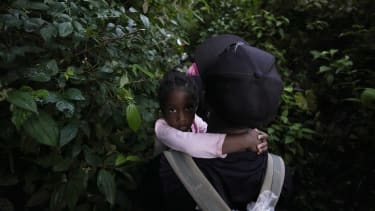 Haitian migrants on their way to the United States.