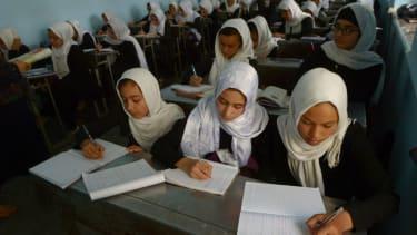 Girls' classroom in Afghanistan.