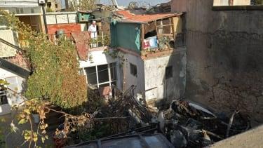 Site of U.S. missile strike in Kabul.