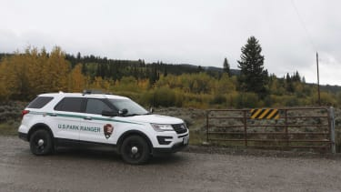 A U.S. Park Ranger vehicle in Wyoming.