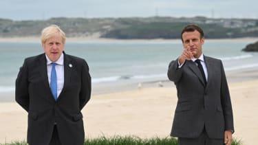 Johnson and Macron.