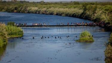 Migrants across Rio Grande.