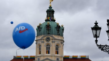 AFD campaign event in Germany.
