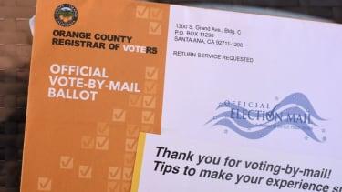 A California mail-in ballot.