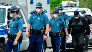 Massachusetts State Police troopers.