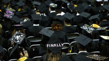 Graduation caps.