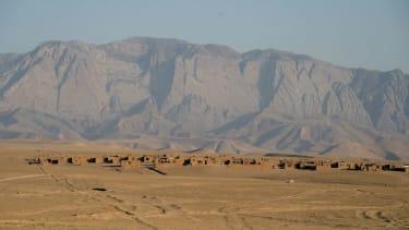 Afghan village in Shadyan desert.
