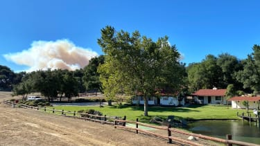 Smoke from the Alisal Fire.