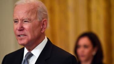 Biden gives remarks