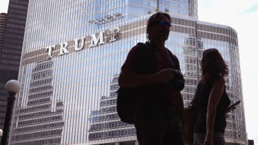 A Trump sign