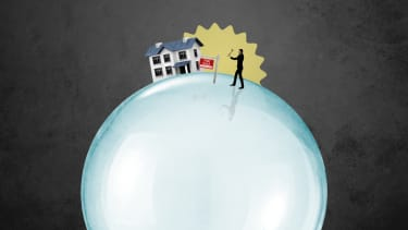 A house on a bubble.