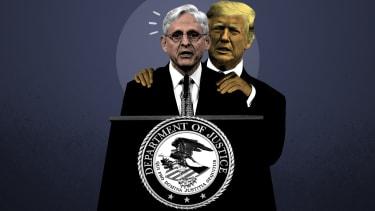 Merrick Garland and Donald Trump.