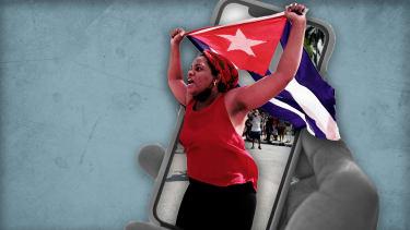 Cuba protest social media.