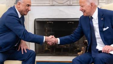 Biden and the Iraqi prime minister
