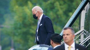 Biden and Marine One