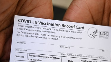 A vaccine card