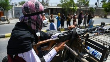 A Taliban patrol.