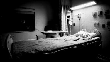 Ann empty bed.