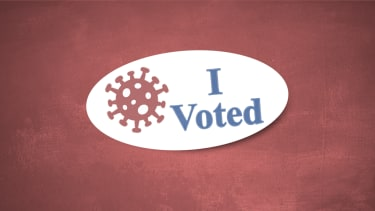 An I Voted sticker.