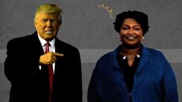 Donald Trump and Stacey Abrams.