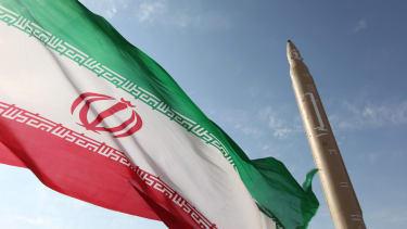 An Iranian flag.