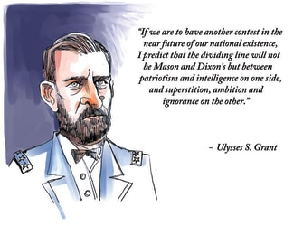 Political Cartoon U.S. Ulysses S. Grant GOP Democrats