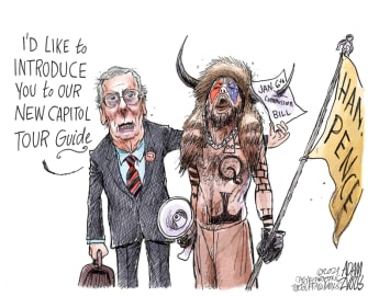 Political Cartoon U.S. mcconnell jan 6 commission capitol riot