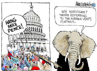 Political Cartoon U.S. gop capitol riot jan 6