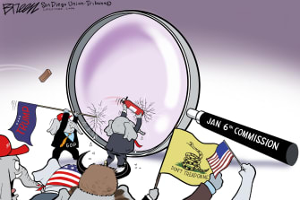 Political Cartoon U.S. gop jan 6 commission