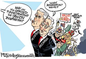 Political Cartoon McConnell Insurrection