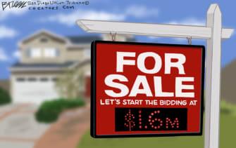 editorial cartoon housing prices