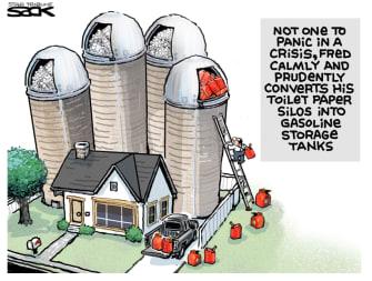 Editorial Cartoon U.S. gas shortage hoarding