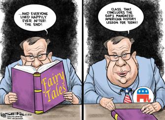 Political Cartoon U.S. gop democracy