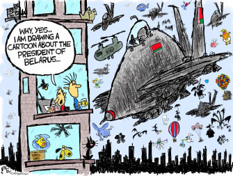 Editorial Cartoon World belarus journalist